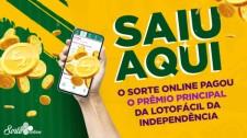 Sorte Online tem bolão ganhador do prêmio principal da Lotofácil da Independência