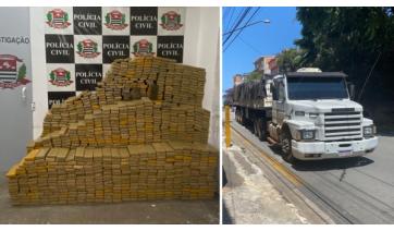 Polícia Civil prende em Parapuã argentino que levava 1,6 tonelada de maconha em caminhão