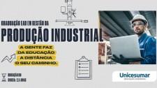 Conheça o curso de Gestão da Produção Industrial da EAD Unicesumar