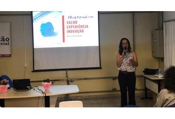 Palestra ?Marketizando com valor, experiência e inovação?, aplicada por Carolina Martins Fernandes (Foto: Cedida/Fatec).