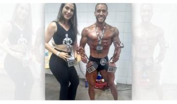 Luan Magalhães foi destaque em competição paranaense de fisiculturismo, no último fim de semana (Acervo Pessoal).