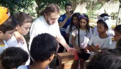 Alunos do subprojeto de pedagogia do Pibid visitam apiário e laboratório de microscopia