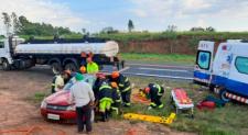 Motorista sem habilitação causa grave acidente na SP-294