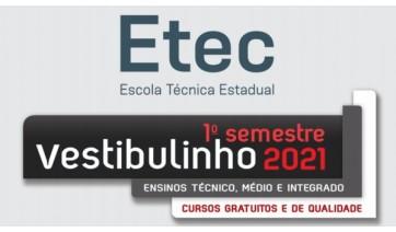 Etecs abrem inscrições para Vestibulinho do primeiro semestre de 2021