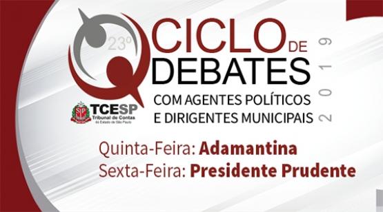 Adamantina recebe nesta quinta-feira Ciclo de Debates do Tribunal de Contas
