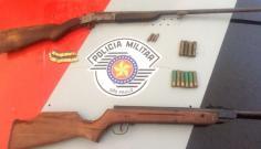 Homem de 29 anos é preso em Adamantina por porte ilegal de armas e munições