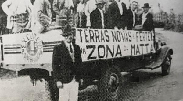 Vendas de terras na chamada Zona da Mata, em 1939, futura Adamntina. Compradores de Novo Horizonte (Reprodução: Livro Reviver Adamantina/João Carlos Rodrigues).