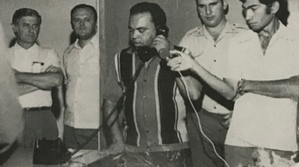 Serviço de telefonia em 1970 (Reprodução: Livro Reviver Adamantina/João Carlos Rodrigues).