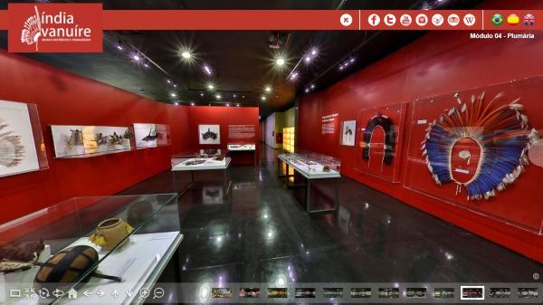 Uma das instalações no Museu Índia Vanuíre, em Tupã, possível de conhecer no tour virtual (Reprodução).
