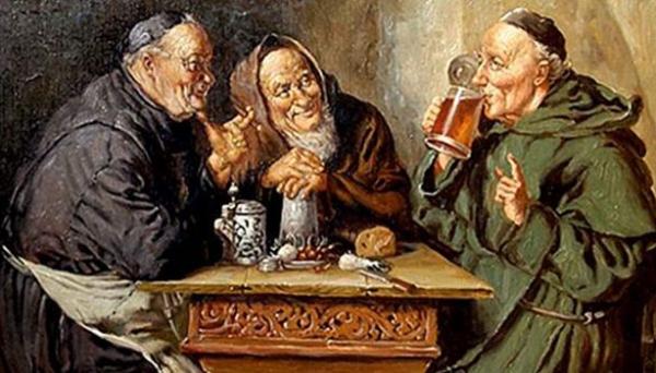 É na Idade Média, especificamente nos Mosteiros, onde o lúpulo começa a ser adicionado à receita da cerveja, dando o famoso gosto amargo a bebida (Ilustração).
