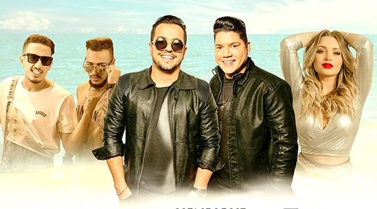 Henrique & Diego (ao centro), Pedro Henrique & Eduardo e a DJ Paolla Zanelato são as atrações do Adamantina In Summer, que acontece dia 16 de fevereiro, no ATC, promovido pelo Gêmeos Pub (Divulgação).