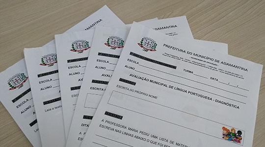 Avaliação diagnóstica acontecerá terça (12) e quarta-feira (13), na rede municipal de ensino de Adamantina (Da Assessoria).