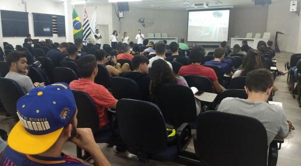 Alunos de Engenharia Civil participam de Palestra do ESF-Brasil (Foto:  Acervo Pessoal).