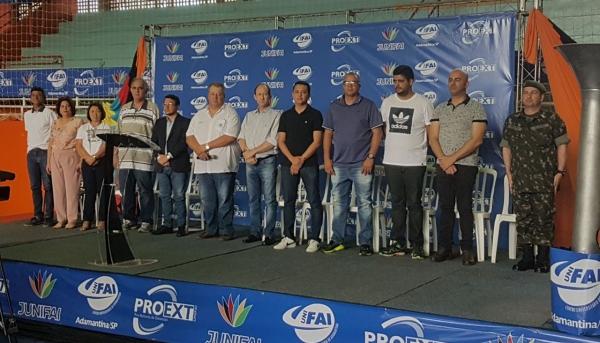 Abertura dos 11º Jogos Universitários JUNIFAI ocorreu neste sábado (12) no Ginásio Municipal de Esportes (Fotos: Jesana Lima/UniFAI).
