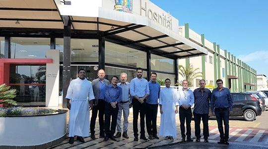 Representantes da UniFAI visitam hospital em Bragança Paulista para elaborar melhorias para a Santa Casa local; ideia é beneficiar a saúde local e aprimorar o aprendizado do curso de Medicina da Instituição (Acervo Pessoal).