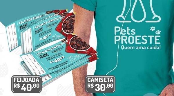 Campanha lança feijoada beneficente, venda de camisetas e busca empresas apoiadoras e padrinhos. Meta é castrar 150 gatos de rua (Divulgação).