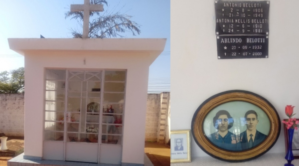 Túmulo número 1, o primeiro na história no Cemitério da Saudade, de Adamantina (Imagens: Cedidas/João Carlos Rodrigues).