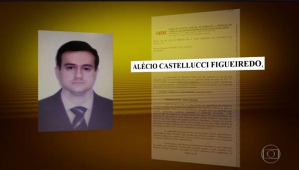 Advogado Alécio Castellucci Figueiredo foi condenado a pena de 64 anos de reclusão mais o pagamento de multa por lavagem de dinheiro. O crime foi cometido 16 vezes (Reprodução/Bom Dia Brasil/TV Globo).