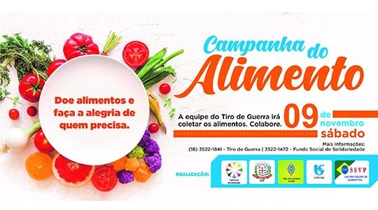 Fundo Social de Solidariedade em parceria com o Lar dos Velhos  promove Campanha do Alimento 2019 (Divulgação).