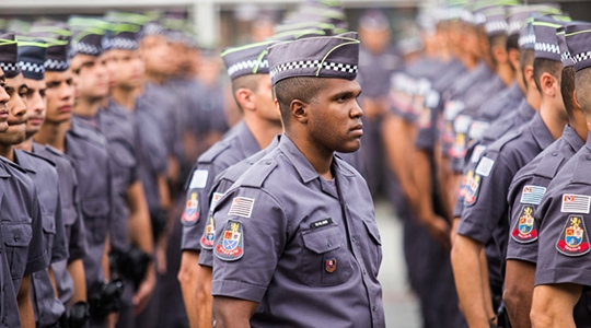 A designação dos novos policiais para cada região, após o curso de formação, acontecerá de acordo com a classificação final no curso e a necessidade local. (Foto: Eduardo Saraiva/Fotos Públicas).