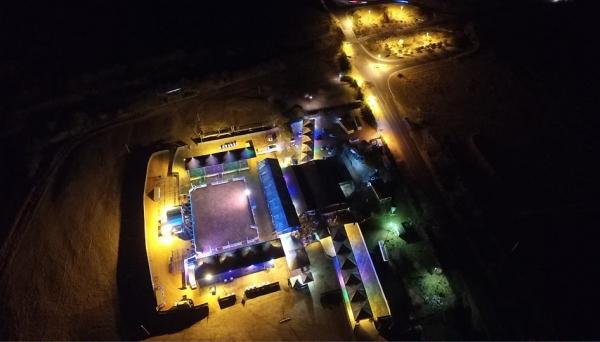 Estrutura da 8ª Festa do Peão está finalizada, no Clube do Laço em Osvaldo Cruz (Fotos: Bruno Sturari Imagens Aéreas).