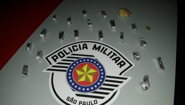 Operação resultou na prisão de traficante e apreensão de maconha e cocaína (Foto: Cedida/PM).