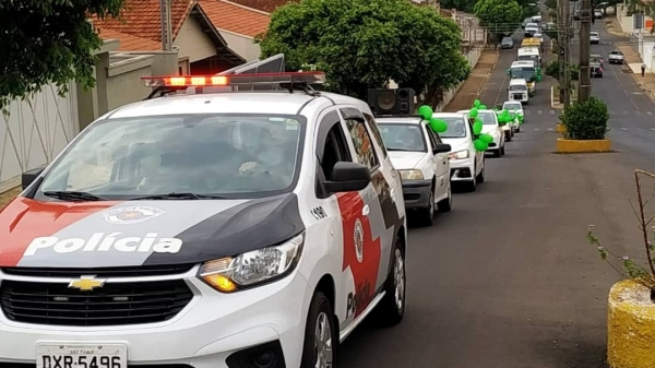 Carreata percorreu as principais ruas de Adamantina na manhã desta quarta-feira (Divulgação/PMA).