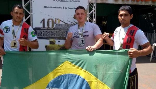 Os três destaques da equipe adamantinense, na competição, Evandro Marcos Bertin, Gabriel Bortoletto Calixto e Thiago Moral Ferreira (Foto: Reprodução).