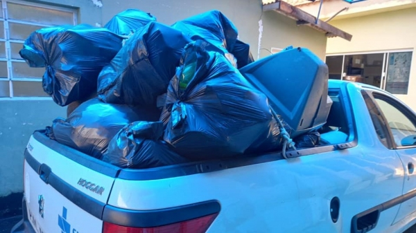 Parte do material coletado em áreas da cidade (Divulgação/Secretaria M. de Saúde).