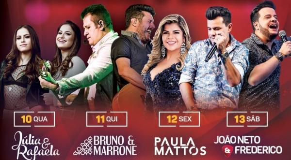 Aceruva 2018 começa nesta quarta com grandes shows em Junqueirópolis