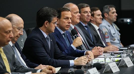 Anúncio do reajuste e medidas de valorização da categoria foi feito pelo governador João Dória, no Palácio dos Bandeirantes (Da Assessoria).