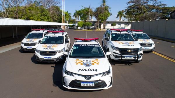 Nova frota da PMRv totaliza um investimento de R$ 3 milhões da Eixo SP. Veículos são entregues prontos para uso, com identificação visual, GPS, radiocomunicador e terminal de consulta ao banco de dados (Da Assessoria).