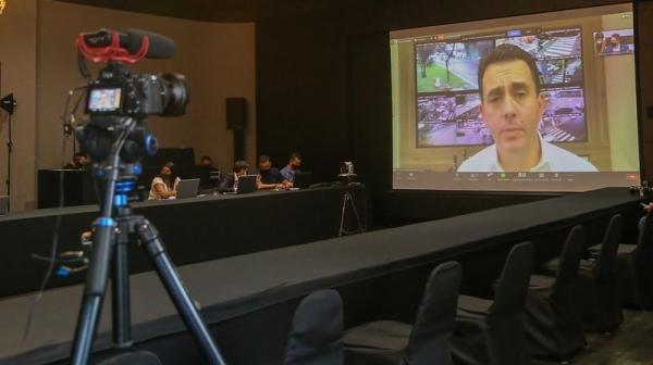 Mais de 600 prefeitos participam da videoconferência (Divulgação/Gov SP).