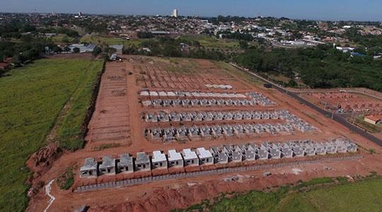 Obras do Eco Ville 1 estão em estágio adiantado, com 200 casas, 100% vendidas (Divulgação).