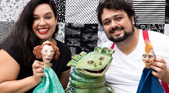 Cia Bisclof traz a Adamantina a contação de história pelo Programa Viagem Literária (Foto: Joice Rodrigues de Lima).