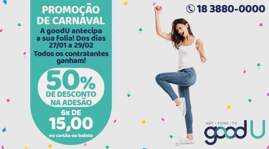 Promoção especial de carnaval segue até 29 de fevereiro, com 50% de desconto na adesão, pagando apenas 6 x R$ 15,00 no cartão ou boleto (Divulgação).