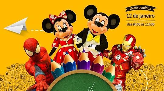 Personagens infantis e super-heróis estarão no Hoper Cocipa, neste domingo (12), das 9h30 às 11h30 (Divulgação).