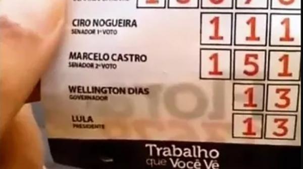 Materiais apreendidos traziam Lula como candidato à presidência da república (Reprodução/OCNET).