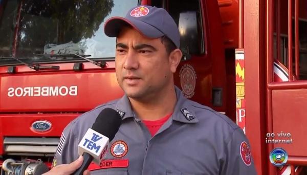 Sargento Eder, do Corpo de Bombeiros de Tupã, disse que a corporação recebeu uma série de chamados telefônicos de moradores relatando o tremor (Reprodução/TV TEM).