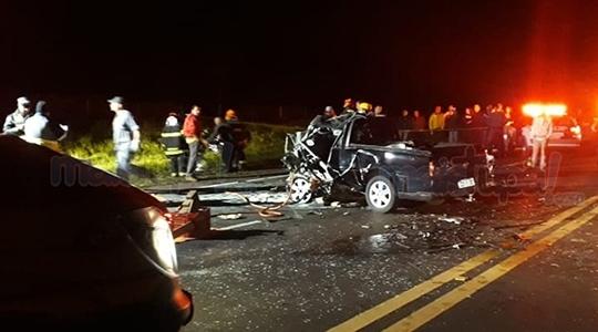 Recente acidente na Rodovia Comandante João Ribeiro de Barros (SP-294), na região de Pompéia/Quintana (Reprodução/Site Mais Tupã).