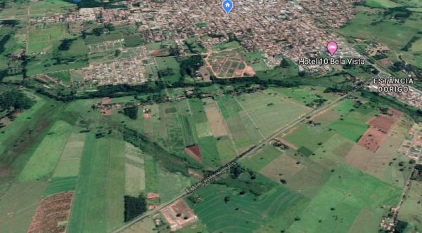 Documentos descrevem a previsão de 369 unidades habitacionais na área de 196.587 metros quadrados localizada na Rodovia Vicinal José Maria da Silva - vicinal Adamantina/Mariápolis (Imagem: Google).