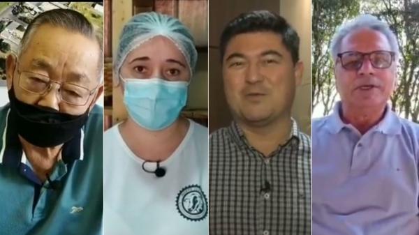 Namba, Francieli, Rubens e Edson estão nos vídeos divulgados pela Prefeitura de Adamantina (Reprodução).