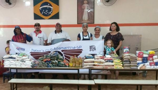 Organizadores do Adamantina Fest Car entregam doação à Casa do Garoto (Foto: Cedida).