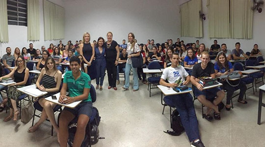 Polícia Civil levou aos estudantes de direito informações sobre a dinâmica da atividade policial e destacou a atuação do NECRIM (Foto:Cedida/Deinter).