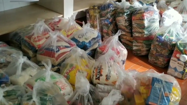 Novo lote de alimentos foi repassado à Paróquia São Francisco de Assis no Jardim Adamantina e ao Instituto de Assistência ao Menor de Adamantina ? IAMA (Reprodução).