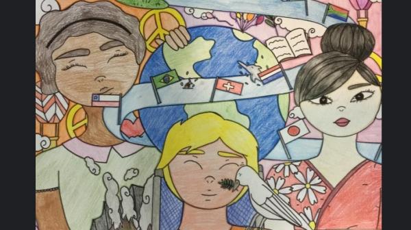 Cartaz criado pela aluna Ana Clara (Imagem: Assessoria de Imprensa).