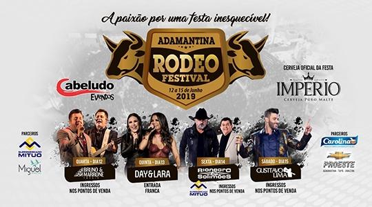 Adamantina Rodeo Festival acontece de 12 a 15 de junho, em Adamantina (Divulgação).