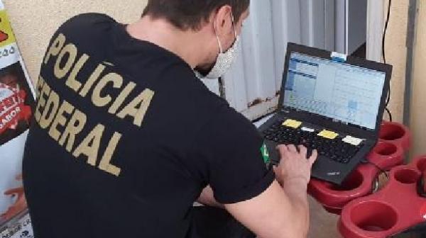 Informações para a prisão do suspeito e apreensão de objetos foram repassadas pela Interpol na França à Polícia Federal (Divulgação/PF).