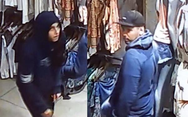 Polícia busca informações que possam levar a estes dois bandidos, que assaltaram loja em Junqueirópolis (Foto: Reprodução/Junqueirópolis Em Dia).