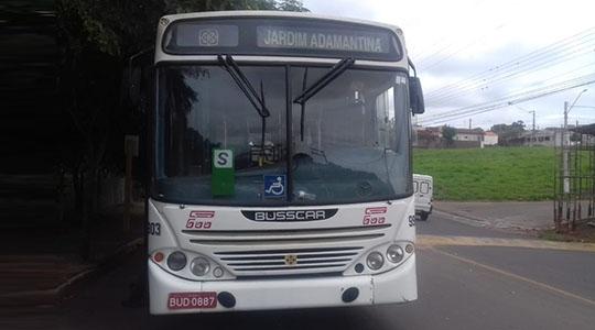 Ônibus apresentou falha mecânica e desceu avenida em marcha ré, sem freio (Foto: Cedida).